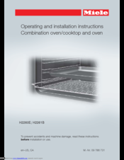 Miele H2260E Operating And Installation Instructions