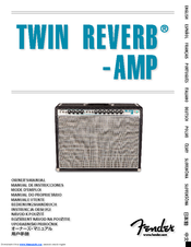 fender twin reverb manuals rh manualslib com fender twin reverb amp owner's manual fender twin reverb reissue schematic