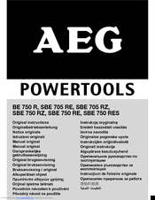 AEG BE 750 R Original Instructions Manual