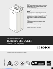 Bosch Buderus SSB512 Installation And Service Manual