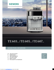 Siemens TE60 Instruction Manual