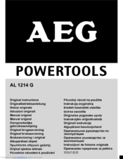 AEG AL 1214 G Original Instructions Manual