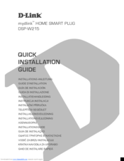 D-Link mydlink DSP-W215 Quick Installation Manual