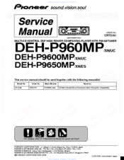 Pioneer Premier DEH-P960MP Service Manual