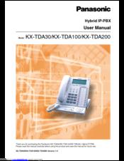 Panasonic kx-tda30 manuals.