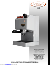 brasilia club manuals rh manualslib com Brasilia Portofino Single Group Brasilia Century Espresso Machine