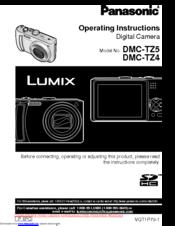 panasonic lumix dmc tz4 manuals rh manualslib com Panasonic Lumix TZ5 Panasonic Lumix DMC