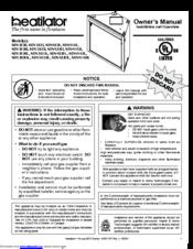 Heatilator Gas Fireplace NDV3933I Manuals