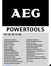 AEG SE 12-180 Original Instructions Manual