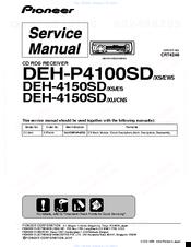 PIONEER DEH-P4100SD SERVICE MANUAL Pdf Download | ManualsLibManualsLib
