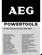 AEG GS 400 Original Instructions Manual