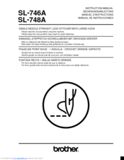 Brother SL-748A Instruction Manual