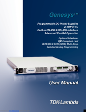tdk lambda genesys gen60 40 manuals rh manualslib com TDK-Lambda Power Supply Manual TDK-Lambda NJ
