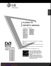 LG 50PS60 Series Owner's Manual