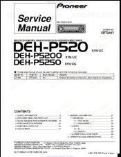 Pioneer deh p520 manuals manuals and user guides for pioneer deh p520 we have 3 pioneer deh p520 manuals available for free pdf download service manual installation manual asfbconference2016