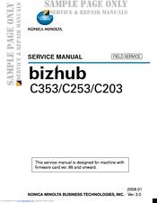 konica minolta bizhub c253 series manuals rh manualslib com konica minolta c253 service manual konica minolta bizhub c253 service manual pdf