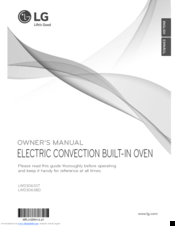 LG LWD3063BD Owner's Manual
