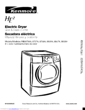 Kenmore 110.8858 Series Use And Care Manual