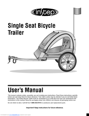 instep single seat bicycle trailer manuals rh manualslib com instep bicycle trailer instruction manual Schwinn Bicycle Computer
