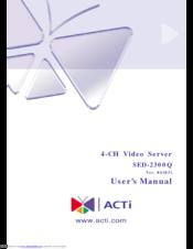 ACTi SED-2300Q Treiber Windows 7