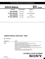 sony kdl 52w4100 manuals rh manualslib com Sony KDL-52W4100 Plug sony kdl-52w4100 manual pdf