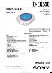 Sony CD Walkman D-EQ550 Manuals