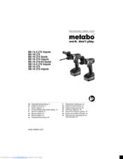 4ee42bc8f METABO BS 14.4 LTX IMPULS ORIGINAL INSTRUCTIONS MANUAL Pdf Download.