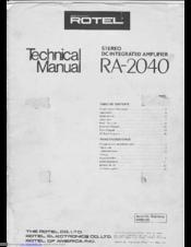 rotel ra 2040 manuals rh manualslib com