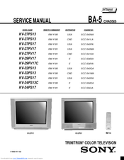 sony kv 32fs13 32 fd trinitron wega manuals rh manualslib com Sony Google TV Owners Manual Sony TV Parts Manual