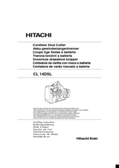 Hitachi CL 10D2 Handling Instructions Manual