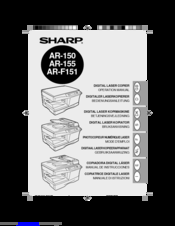 Sharp AR-F151 Operation Manual