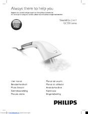 Philips Steam&Go 2-in-1 GC330 series User Manual