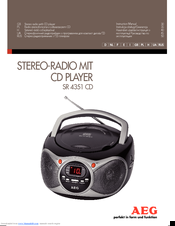 AEG SR 4351 CD Instruction Manual