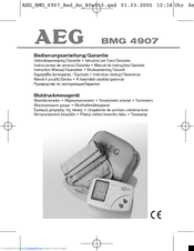 AEG BMG 4907 Instruction Manual   Guarantee (110 pages) 910533c4fd