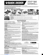 Black & Decker MTD100 Instruction Manual