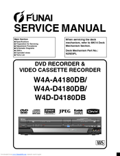 Funai W4D-D4180DB Manuals