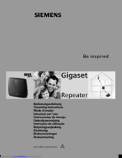 Siemens Gigaset Repeater Operating Instructions Manual