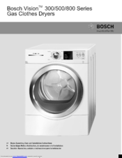 Bosch vision 500 series manuals bosch vision 500 series operating care and installation instructions manual 104 pages gas clothes dryer sciox Image collections