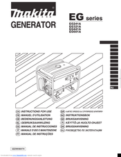 Makita EG SERIES Instructions For Use Manual