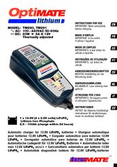 Tecmate optimate lithium tm291 manuals.