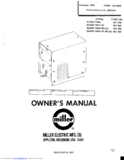 miller econo twin hf manuals rh manualslib com miller 252 owners manual miller bobcat 250 owners manual