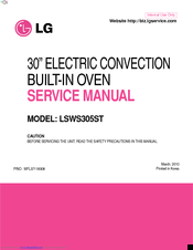 LG LSWS305ST Service Manual