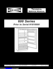 sub zero 690 s manuals rh manualslib com Sub-Zero Game Sub-Zero Refrigerator