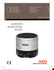AEG BSS 4826 Instruction Manual