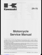 Kawasaki ZR-7S Service Manual