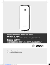 Bosch Tronic 3000T Installation Instructions Manual