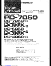 Pioneer PD-5050 Service Manual
