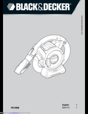 Black & Decker PD1200B Instruction Manual