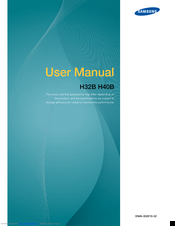Samsung H32B User Manual