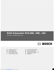 Bosch DVA-08E Quick Installation Manual